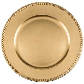 Gold Leaf Plate Charger